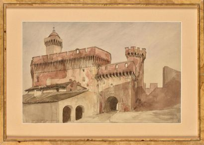 Adrien DAUZATS (1804-1868) Porte N.D.Castelet,...