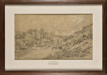 Jules DUPRÉ (1811-1889) Dans les roches d'Arbonne...
