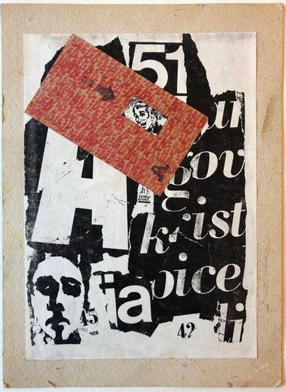 SLAVKO MATKOVIC (SRB/ 1948-1994) Sans titre (Collage 51-49) collage d'impression...