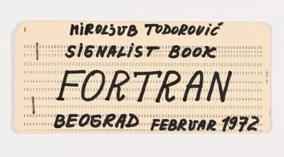 MIROLJUB TODOROVIC (SRB/ né en 1940) i. FORTRAN...