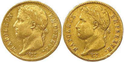 NAPOLÉON Ier 1804-1814 Lot de deux monnaies...