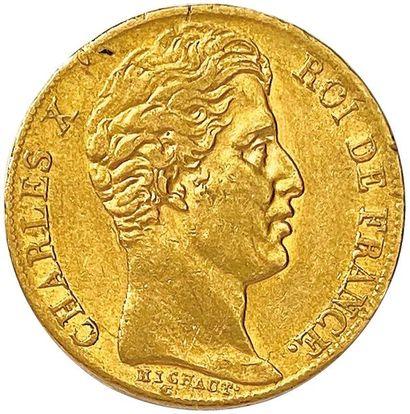 CHARLES X 1824-1830 20 Francs or 1828 Paris....