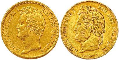 LOUIS-PHILIPPE Ier 1830-1848 Lot de deux...