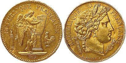 IIe RÉPUBLIQUE 1848-1850 Lot de deux monnaies...