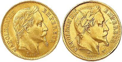 NAPOLÉON III 1852-1870 Lot de deux monnaies...