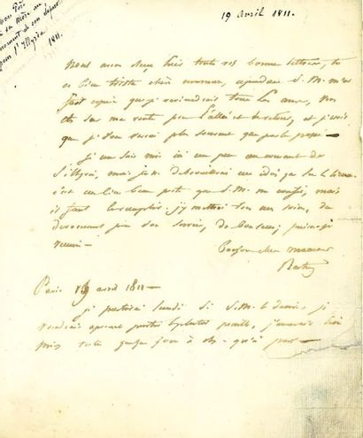 BERTRAND (Henri-Gatien). 9 lettres à sa famille,...