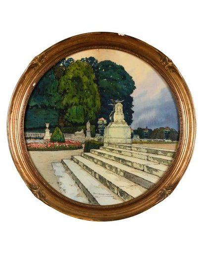 Tony Georges ROUX (1894-1928) Vues des jardins...