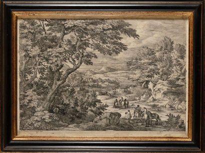 Adam Frans VAN DER MEULEN (1632 - 1690) Paysage...