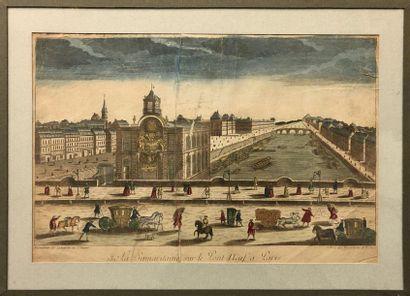 PARIS : -Vue d'optique représentant le Pont...
