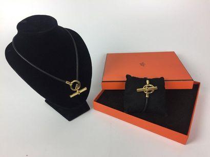 HERMES Collier et bracelet modèle Glénan,...