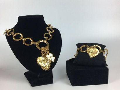 YVES SAINT LAURENT Collier et bracelet à...