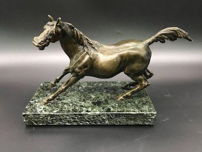 J. MOIGNIEZ, d'après  Cheval  Sujet en bronze...
