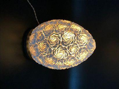 Lampe coquillage en forme d'œuf  H. 30 c...