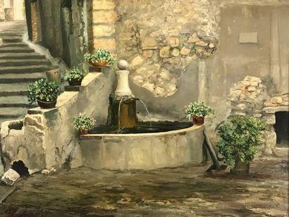 Fontaine de Villecruze dans le Var  Huile...