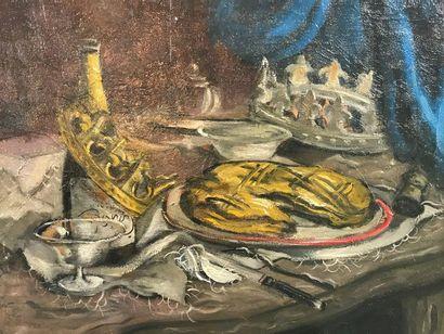 La Galette des Rois  Huile sur toile  Représentant...