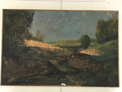 Lot de deux paysages  Huile sur toile  -...