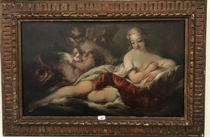 Ecole du XVIIIème siècle  Allégorie, femme...