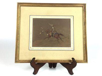 Théodore FORT (d'après)  Cavalier à cheval...