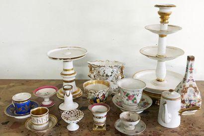 Important lot de porcelaine de Paris et d'ailleurs...