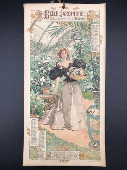 Calendrier 1897 La Belle Jardinière  Quatre...