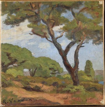 Raymond VERDUN (1873-1954) Paysage Huile...