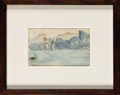 Jean-François MILLET (1814-1875) Paysage...