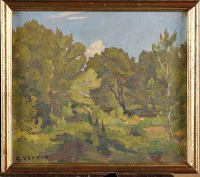 Raymond VERDUN (1873-1954) Paysage au nuage...