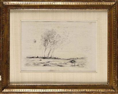Camille COROT (1796-1875) Paysage de Sologne...
