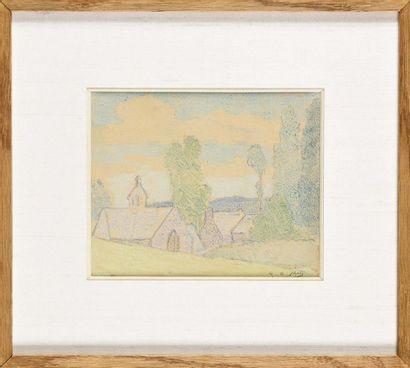 Henri-Gabriel IBELS (1867-1936) Vue de village...