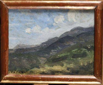 Raymond VERDUN (1873-1954) Paysage de montagne...