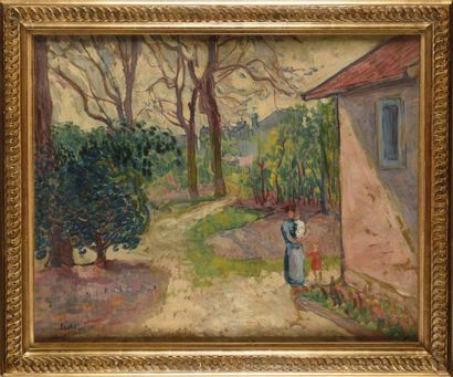 Jean PESKE (1880-1949) La promenade Huile...