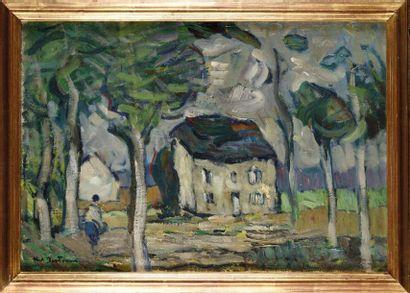 Abel BERTRAM (1871-1954) Paysage 1943 Huile...
