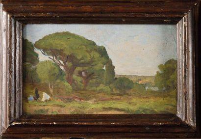 Raymond VERDUN (1873-1954) Paysage animé...