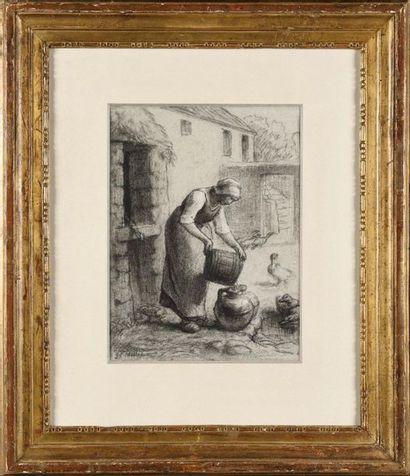 Jean-François MILLET (1814-1875) Paysanne...
