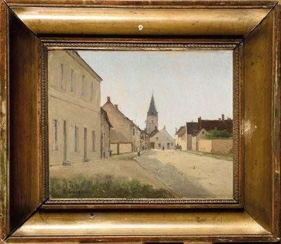 Prosper GALERNE (1836-1922) Rue animée Huile...