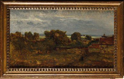 Henri Joseph HARPIGNIES (1819-1916) Paysage...