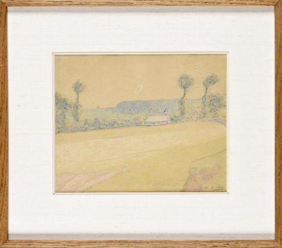 Henri-Gabriel IBELS (1867-1936) Paysage Dessin...