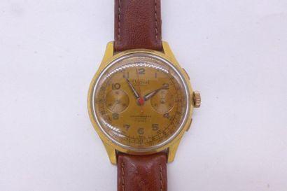 DREFFA GENEVE OVERSIZE ANNEES 1950 Chronographe 2 compteurs Mouvement mécanique,...