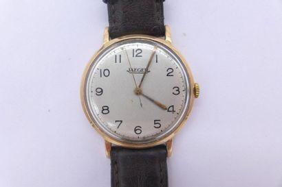 JAEGER N°488627 Montre bracelet d'homme. BOITIER : en or rose 18k. CADRAN : index...