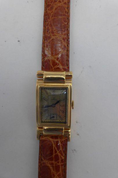 OMEGA VERS 1930 FLEXIBLES, OR ROSE. Montre-bracelet...