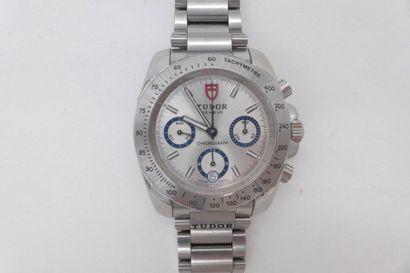 TUDOR Montre bracelet chronomètre en acier. BOITIER : rond à échelle tachymétrique....