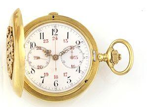 LONGINES Montre de gousset chronographe à...