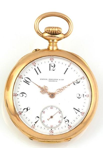 PATEK PHILIPPE Important pocket watch in 18k yellow gold signed Patek philippe &...