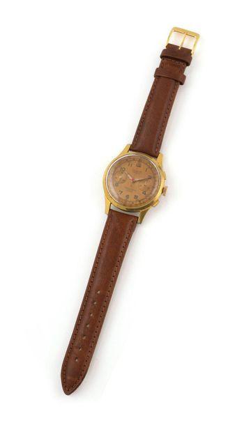 DREFFA GENEVE OVERSIZE. ANNEES 1950. Chronographe...