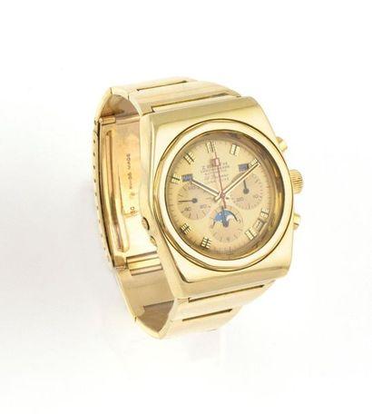 ZENITH El primero Chronograph Automatic Luna Luxe. De 1972. Montre en or jaune 18K,...