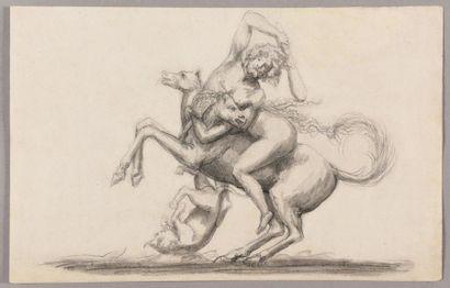 ÉCOLE NÉOCLASSIQUE, VERS 1800 Hercule combattant...