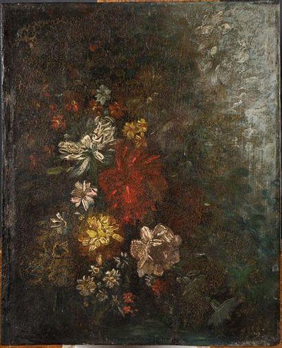 ÉCOLE FRANÇAISE, XIXè SIÈCLE Étude de fleurs...