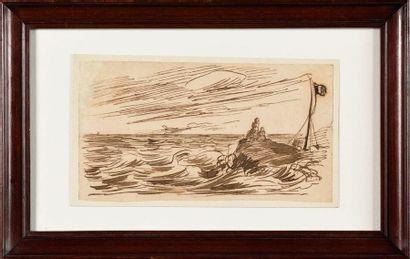 ATTRIBUÉ À CLAUDE MONET (1841-1926) Bord...
