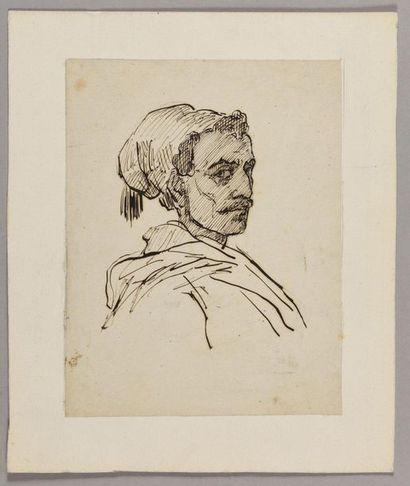 ENTOURAGE D'HORACE VERNET (1789-1863) Portrait...