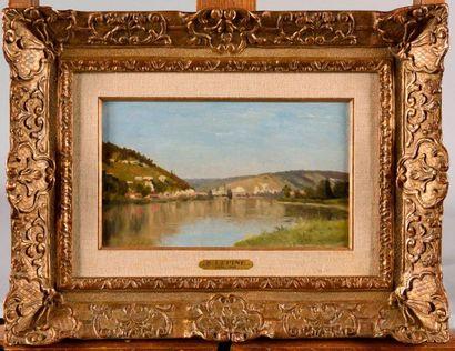 STANISLAS LÉPINE (1835-1892) La Seine en...